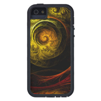 Sunrise Floral Red Abstract Art iPhone 5 Cases