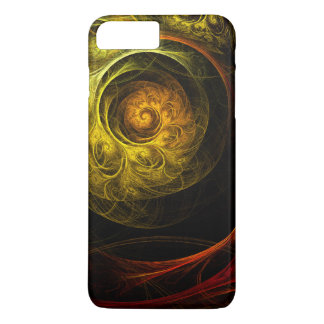 Sunrise Floral Red Abstract Art iPhone 8 Plus/7 Plus Case