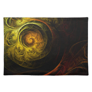 Sunrise Floral Red Abstract Art Placemat