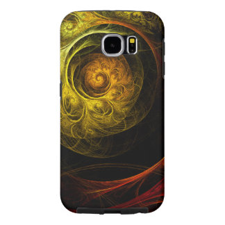 Sunrise Floral Red Abstract Art Samsung Galaxy S6 Cases