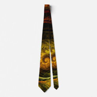 Sunrise Floral Red Abstract Art Tie