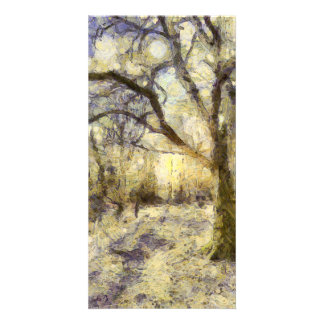 Sunrise Forest Art Card
