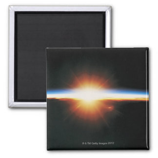Sunrise from Space 2 Square Magnet
