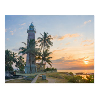 Sunrise, Galle lighthouse Postcard