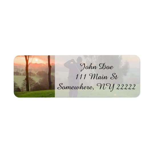 Sunrise Golfer Return Address Label