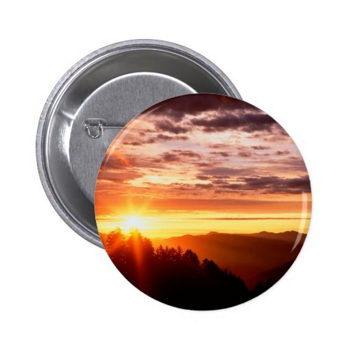 Sunrise Great Smoky Mountains Pinback Buttons