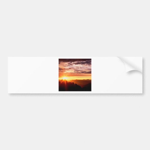 Sunrise Great Smoky Mountains Bumper Stickers