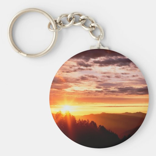 Sunrise Great Smoky Mountains Key Chains