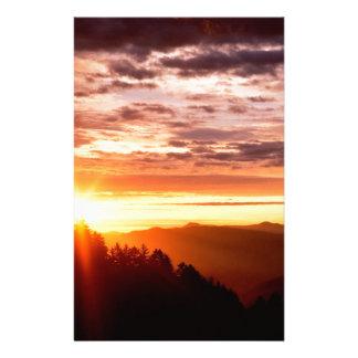 Sunrise Great Smoky Mountains Custom Stationery