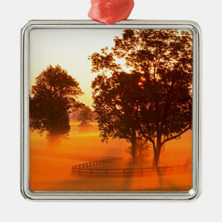 Sunrise Horse Farm Versailles Kentucky Metal Ornament