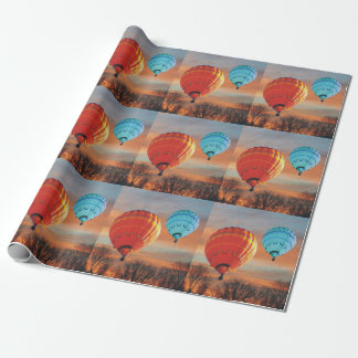 Sunrise Hot Air Balloon Ride Wrapping Paper