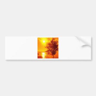 Sunrise Hot Amber Bumper Sticker
