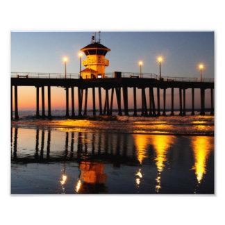 Sunrise Huntington Beach Pier Photo Print