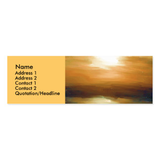 Sunrise Impression Pack Of Skinny Business Cards