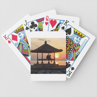 Sunrise in Bali Bicycle Playing Cards