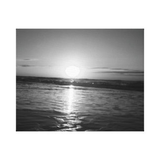 Sunrise in Black & White Stretched Canvas Prints