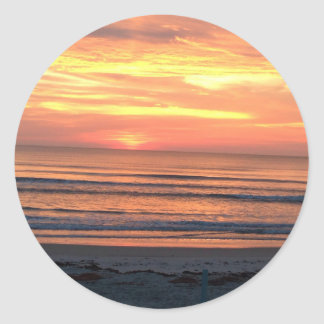 Sunrise in Daytona Beach, FL Classic Round Sticker