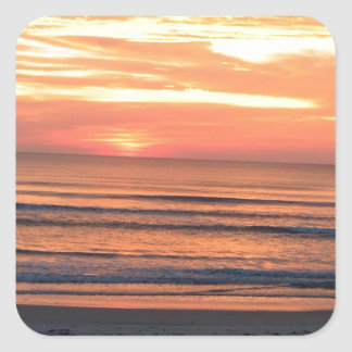 Sunrise in Daytona Beach, FL Square Sticker