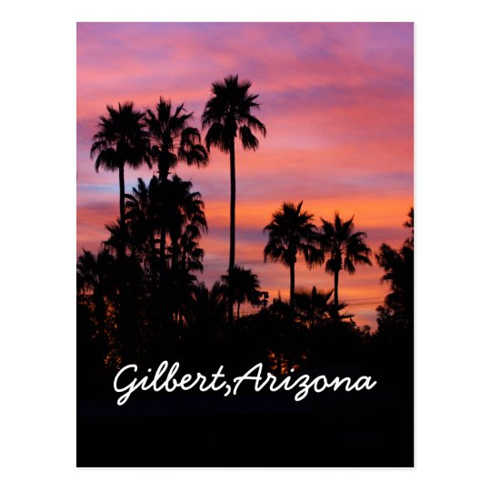 Sunrise in Gilbert,AZ Postcard