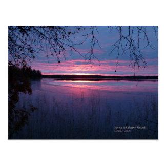 Sunrise in Lapland Postcard