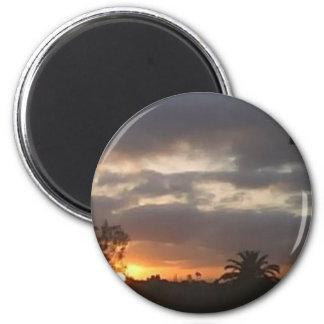 Sunrise in March 6 Cm Round Magnet