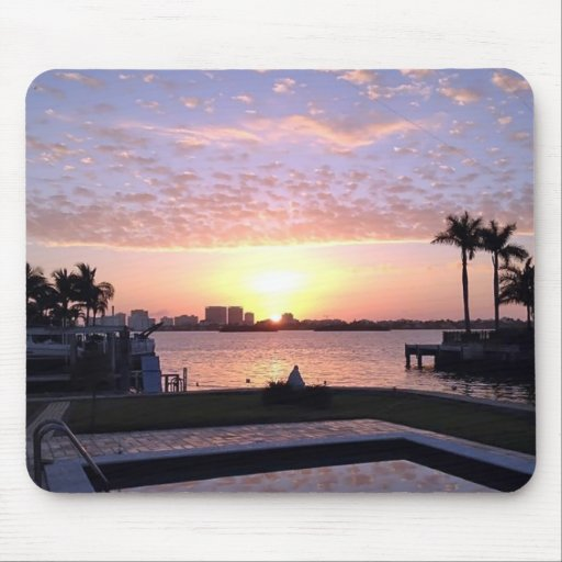 Sunrise in Miami Mouse Pads
