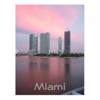 Sunrise in Miami Postcard