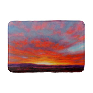 Sunrise in Mountains of Montana Bath Mat