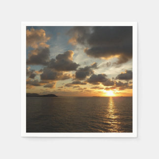 Sunrise in St. Thomas I US Virgin Islands Paper Napkin
