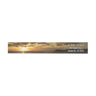 Sunrise in St. Thomas I US Virgin Islands Wrap Around Label