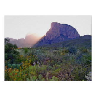 Sunrise in the Chisos, Texas Poster