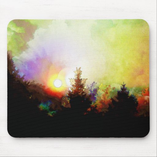 Sunrise In The Forest Mouse Pads
