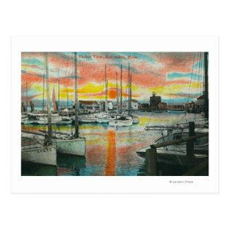 Sunrise in the Harbor Postcard