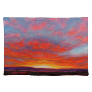 Sunrise in the Mountains 1 Sided Cotton Placemat