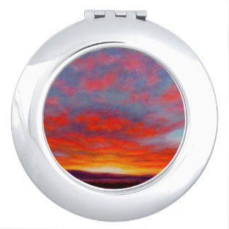 Sunrise in the Mountains of Montana Compact Mirror
