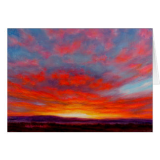 Sunrise in the Mountains of Montana Greeting Card
