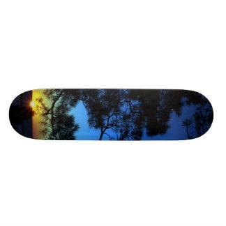 Sunrise in the woods 21.6 cm old school skateboard deck