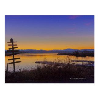 Sunrise in winter in Seattle 2 Postcard