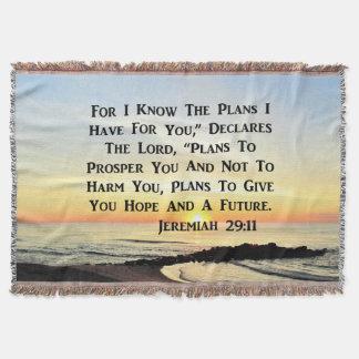 SUNRISE JEREMIAH 29:11 BIBLE VERSE THROW BLANKET
