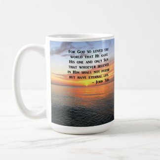 SUNRISE JOHN 3:16 INSPIRING PHOTO COFFEE MUG