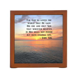 SUNRISE JOHN 3:16 INSPIRING PHOTO DESK ORGANISER