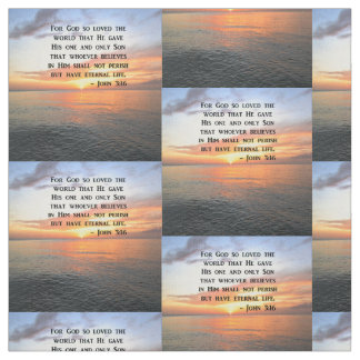 SUNRISE JOHN 3:16 INSPIRING PHOTO FABRIC