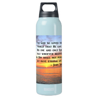 SUNRISE JOHN 3:16 INSPIRING PHOTO INSULATED WATER BOTTLE