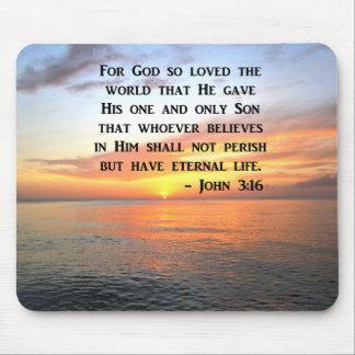 SUNRISE JOHN 3:16 INSPIRING PHOTO MOUSE PAD