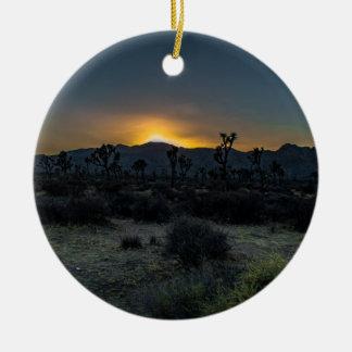 Sunrise Joshua Tree National Park Ceramic Ornament
