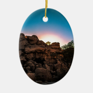 Sunrise Joshua Tree National Park Ceramic Oval Decoration