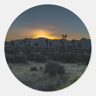 Sunrise Joshua Tree National Park Classic Round Sticker