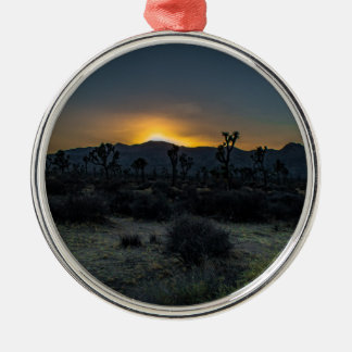 Sunrise Joshua Tree National Park Metal Ornament