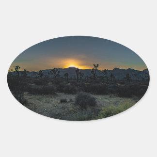Sunrise Joshua Tree National Park Oval Sticker