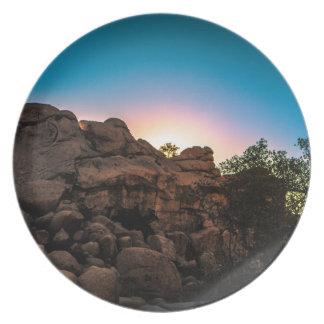 Sunrise Joshua Tree National Park Party Plates